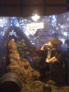 A Christmas diorama in the street