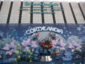 The Cortylandia Christmas display at El Corte Inglés