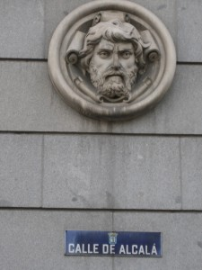 An adornment on Calle de Alcalá: maybe Neptune?