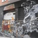 Saxaphone player street art