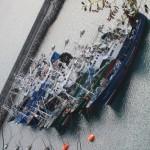 Fishing boats in Hondarribia Harbor