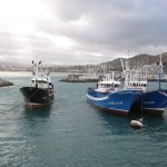 Fishing boats in Hondarribia Harbor