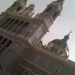 The spires of La Catedral de la Almudena
