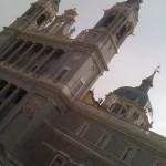 The spires of La Catedral de la Almudena