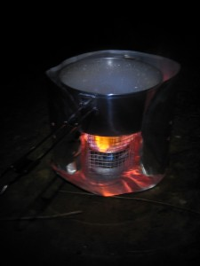 Camp stove, cooking with gas!
